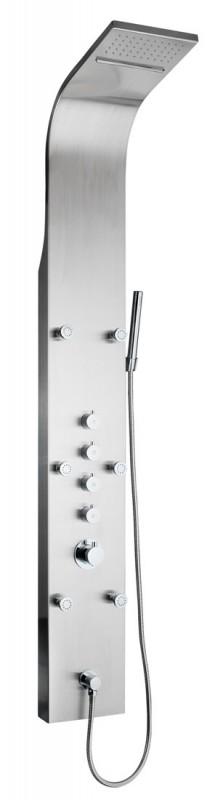 luxus xxl edelstahl wasserfall duschpaneel thermostat ebay. Black Bedroom Furniture Sets. Home Design Ideas