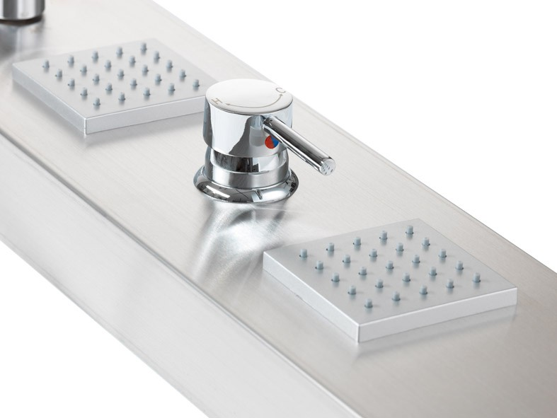 regenwalddusche unterputz xxl edelstahl duschpaneel mit wasserfall - Regenwalddusche Unterputz