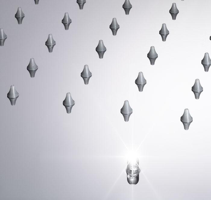 Regendusche Led : XXL Edelstahl 500*500 LED Regendusche 243 D?sen Dusche