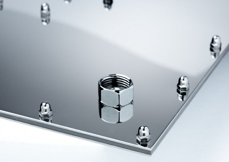 Unterputz Armatur Dusche Einbauen : XXL Edelstahl 500*500 LED ...