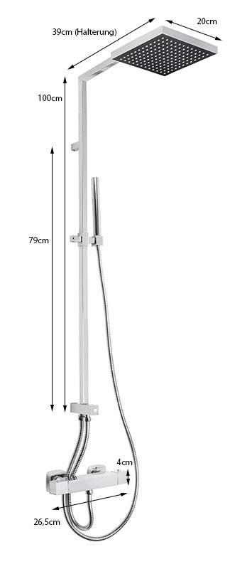 moderne duschs ule mit thermostat und regendusche dusche. Black Bedroom Furniture Sets. Home Design Ideas