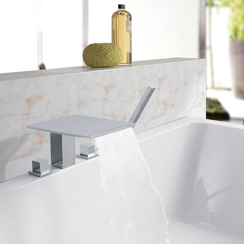 Wannenrand wasserfall armatur 5 loch badewanne ebay - Wasserfall armatur ...