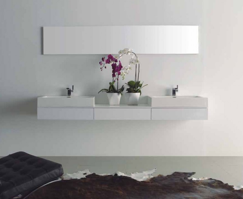 Badmobel Set Manhattan Doppelwaschtisch Weiss Badezimmermobel Ebay