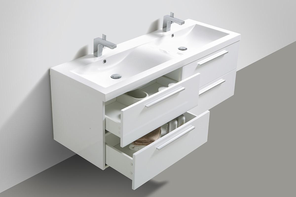 badm bel set sydney doppelwaschtisch in weiss anthrazit. Black Bedroom Furniture Sets. Home Design Ideas