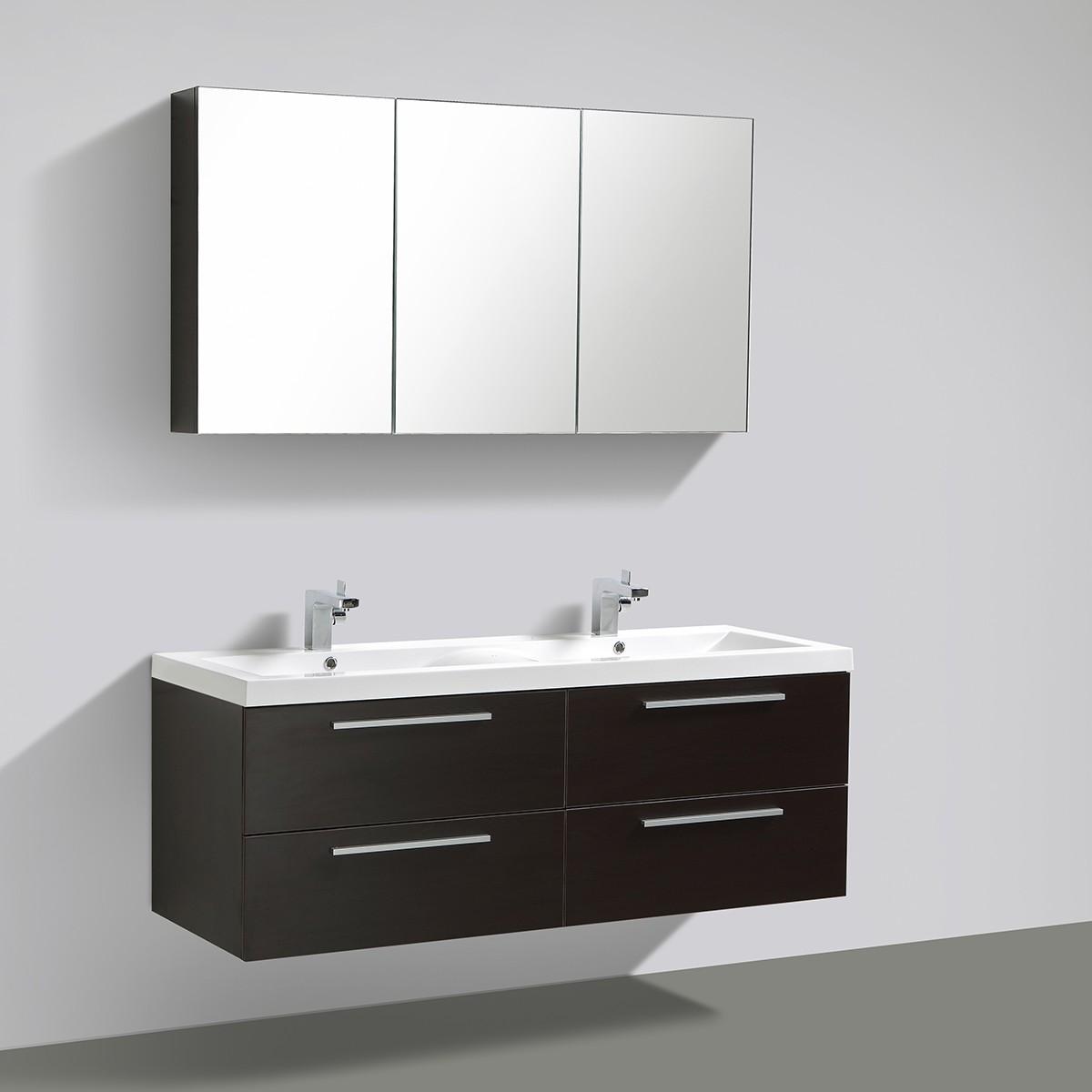 badm bel set sydney doppelwaschtisch in weiss anthrazit oder wenge badm bel doppelwaschbecken. Black Bedroom Furniture Sets. Home Design Ideas