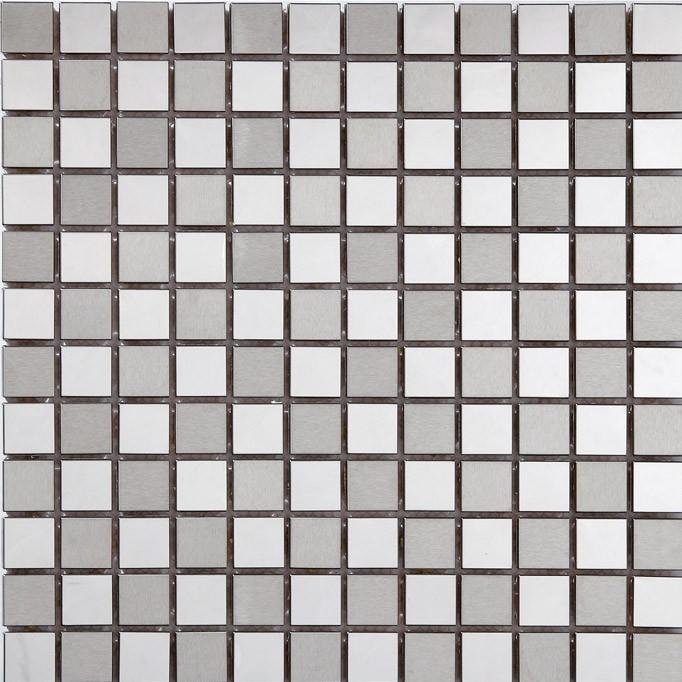 mosaik fliesen aus edelstahl geb rstet 23x23 mm mosaikfliesen ebay. Black Bedroom Furniture Sets. Home Design Ideas