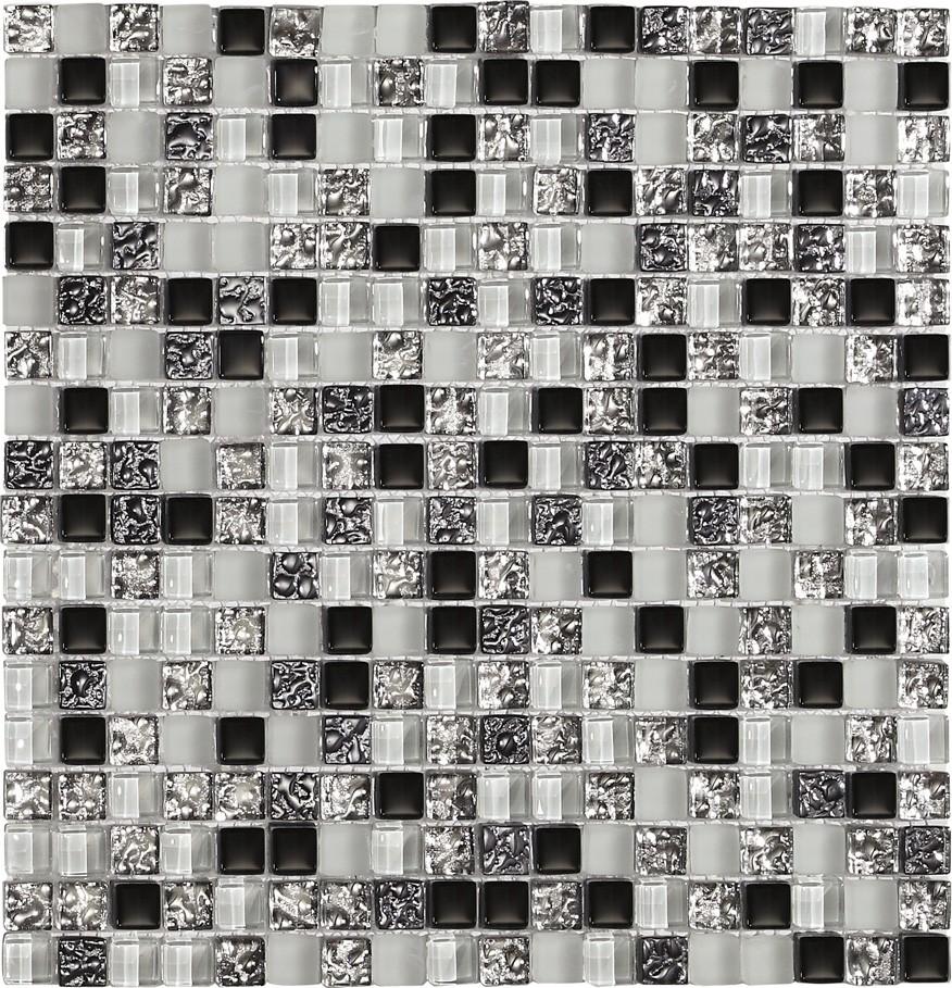 glas mosaik fliesen silber metallic glasmosaik. Black Bedroom Furniture Sets. Home Design Ideas
