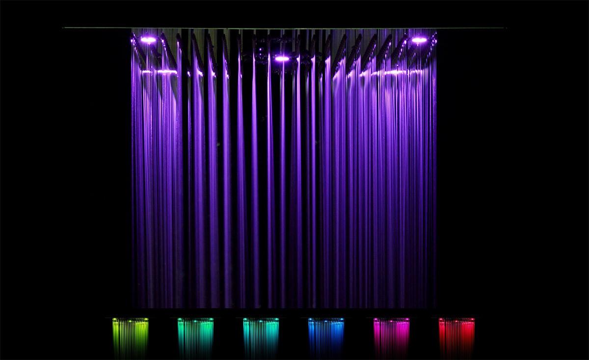 Soho Regendusche 60x60 LED Wasserfall & Nebel mit Einbaurahmen ...