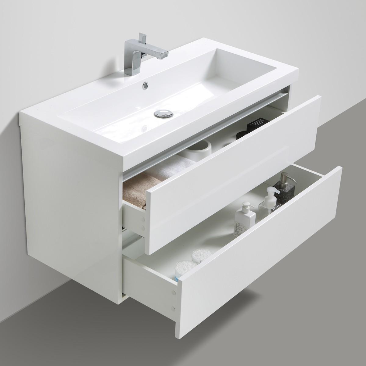 waschtischunterschrank mit waschbecken burgbad chiaro. Black Bedroom Furniture Sets. Home Design Ideas