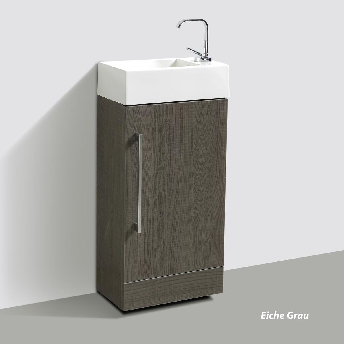 sch ne kleines waschbecken mit unterschrank f r g ste wc. Black Bedroom Furniture Sets. Home Design Ideas