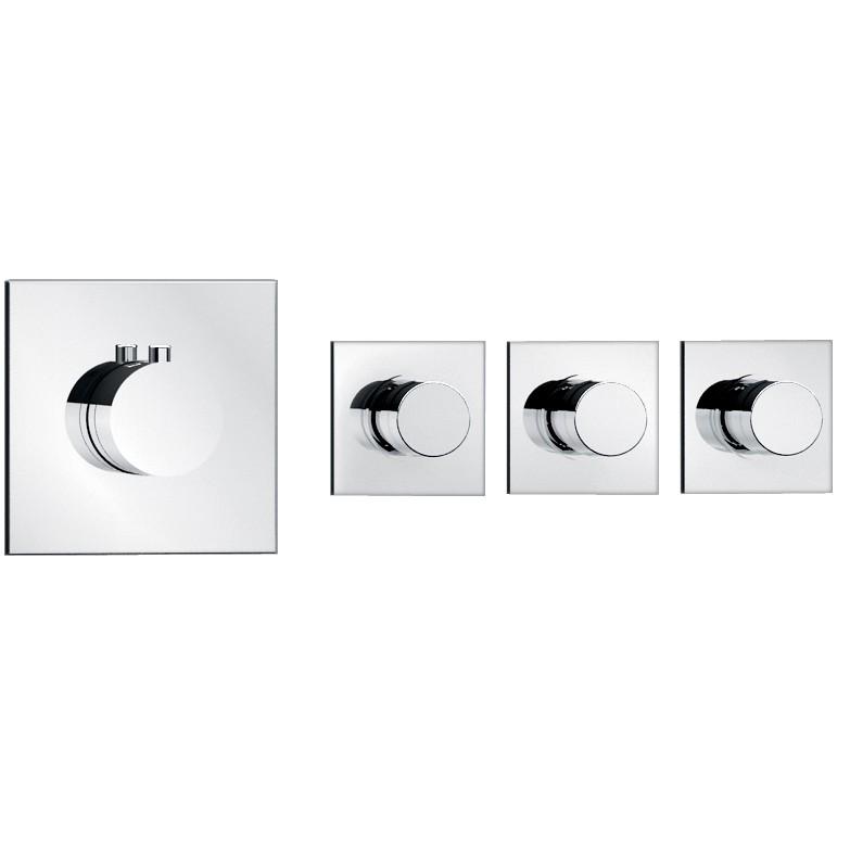 Soho 3 wege unterputz thermostat armatur armaturen dusche for Thermostatarmatur dusche