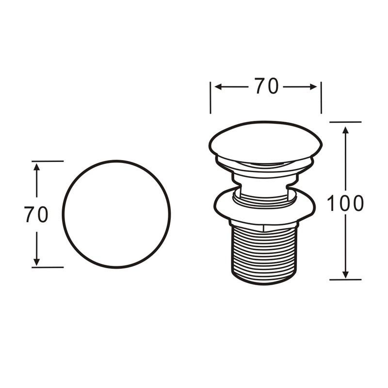 abfluss waschtisch ablauf pop up ventil wei e abdeckung badkeramik waschbecken. Black Bedroom Furniture Sets. Home Design Ideas