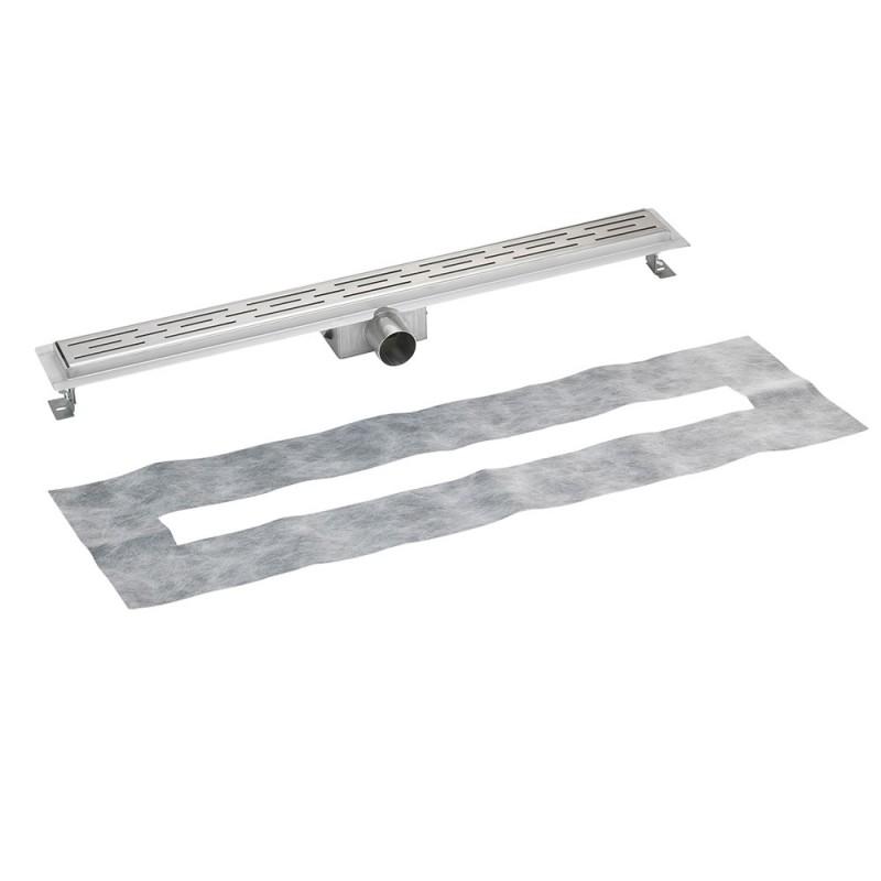 ablaufrinne profi duschrinne mit rost edelstahl duschablauf. Black Bedroom Furniture Sets. Home Design Ideas