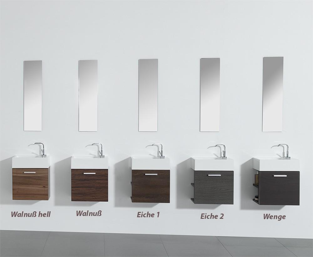 Waschbecken Und Unterschrank : GästeWC Badmöbel Waschbecken mit Unterschrank und Ablagefächer