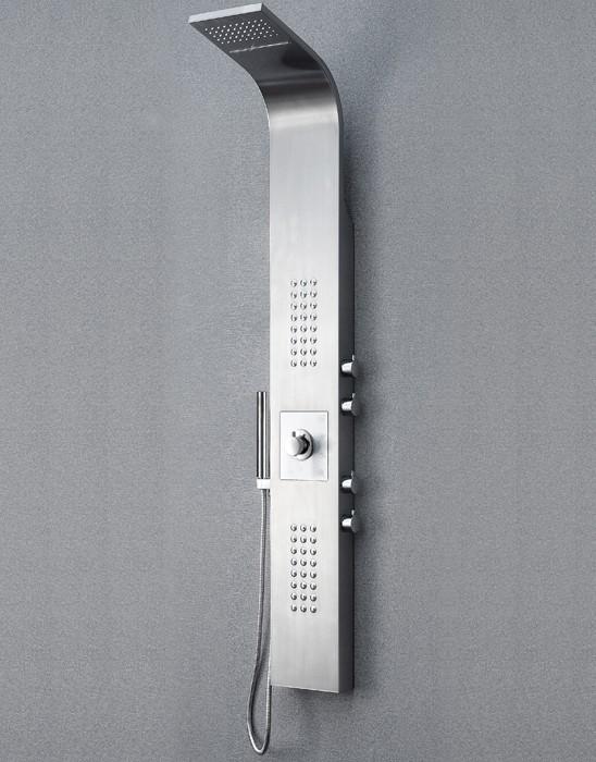 Dusche Unterputz Oder Aufputz : Edelstahl Duschpaneel Thermostat mit Massagejets & Wasserfall
