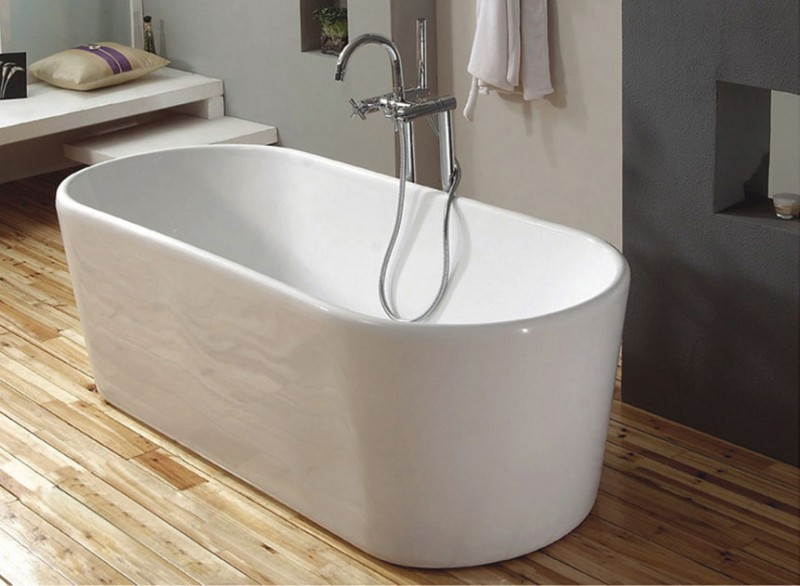 "Freistehende Badewanne ""San Antonio"" 165 cm Standbadewanne Wanne ... | {Freistehende badewanne maße 67}"
